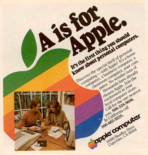 10 Of The Best Apple Print Ads Of All Time -A is for Apple