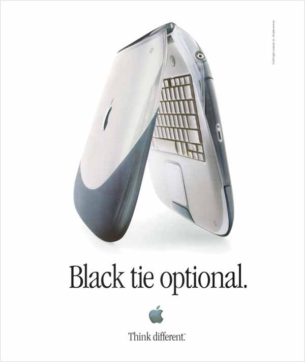 10 Of The Best Apple Print Ads Of All Time - Black tie optional