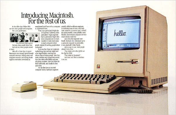 est Apple Print Ads Of All Time -Introducing Macintosh For the Rest Of Us