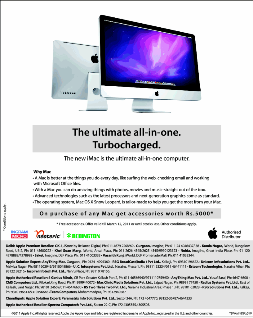 10 Of The Best Apple Print Ads Of All Time - The new iMac is the ultimate all-in-one computer