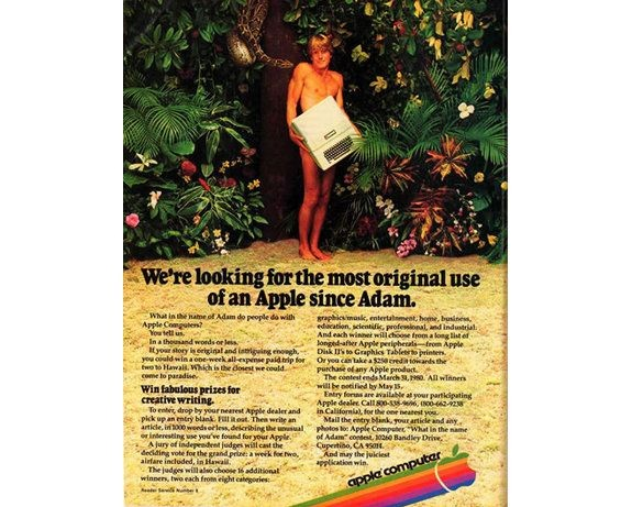 10 Of The Best Apple Print Ads Of All Time -Were looking for the most original use of an Apple since Adam
