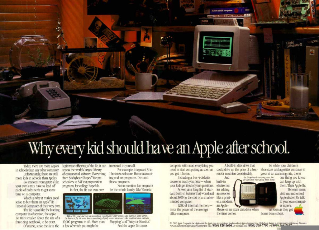 10 Of The Best Apple Print Ads Of All Time -Why every kid should have an Apple after school.