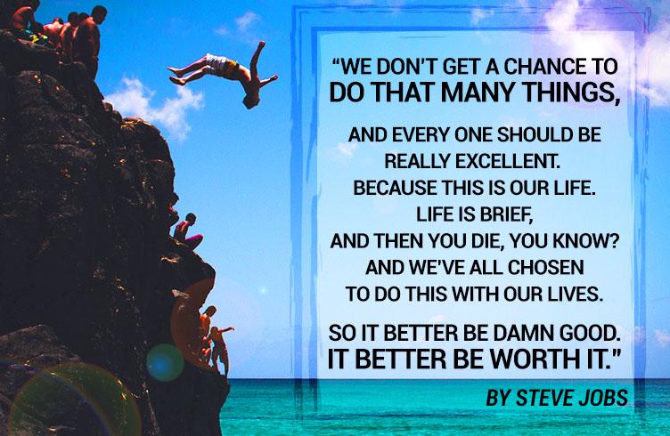 Steve Jobs on priorities in life