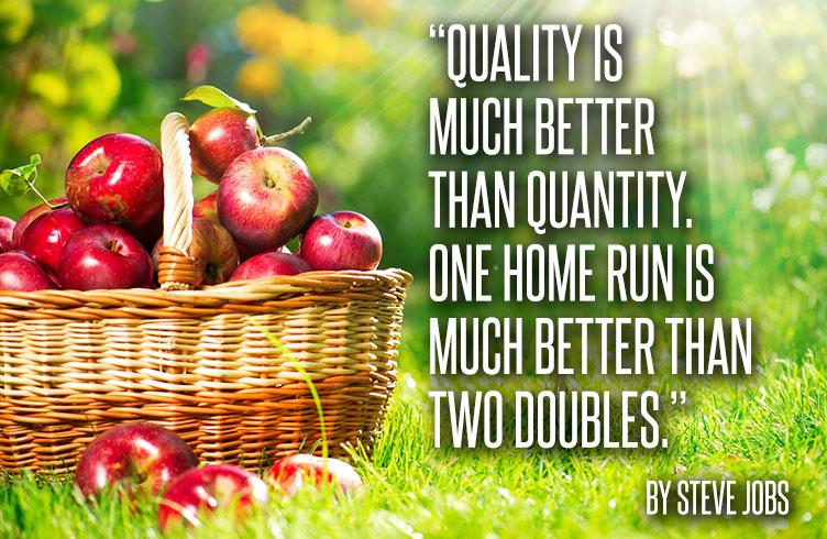 Steve Jobs on quantity