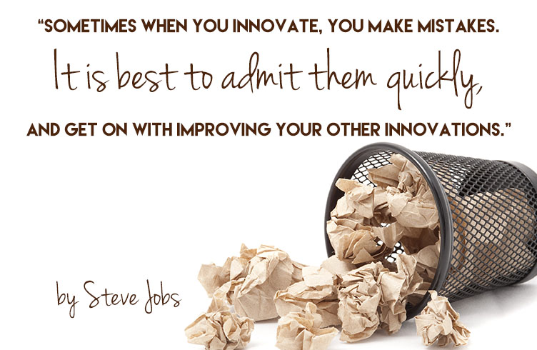 Steve Jobs on mistakes