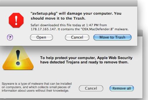 mac virus alerts