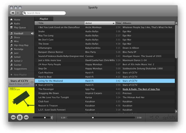 spotify for mac 1